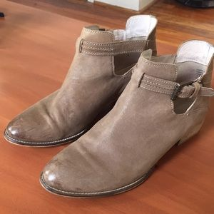 Seychelles grey/taupe ankle booties sz. 9